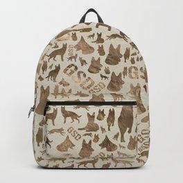 German Shepherd Dog GSD - Pastel Gold Backpack