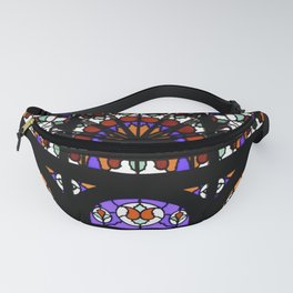 Colorful Rainbow Stain Glass Persian Window Art Fanny Pack