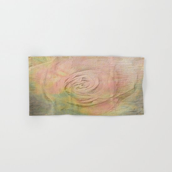 Timeless Vintage Pressed Pastel Rose Hand & Bath Towel