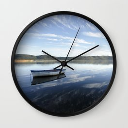 Row Boat on Knysna Lagoon, South Africa Wall Clock