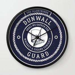 Whiskey & Cigars (Navy) Wall Clock