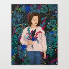 Lana in the jungle Canvas Print