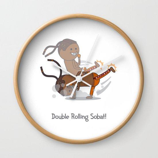 Double Rolling Sobat! Wall Clock