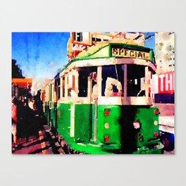 San Francisco F Line Trolly Canvas Print