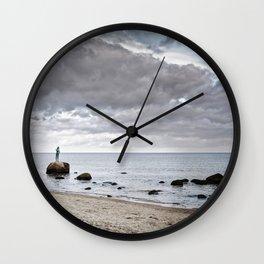 Kaysa at beach Wall Clock