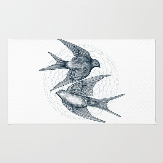 Two Swallows Rug