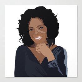 Oprah Canvas Print