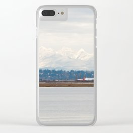 Mountainside in the Bay Clear iPhone Case