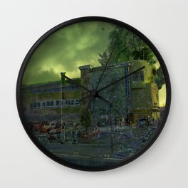 Post Apocalyptic Royton NHS Doctors Building Wall Clock