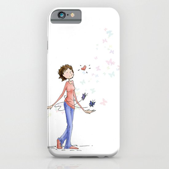 Butterflies, Hand Drawn Illustration iPhone & iPod Case