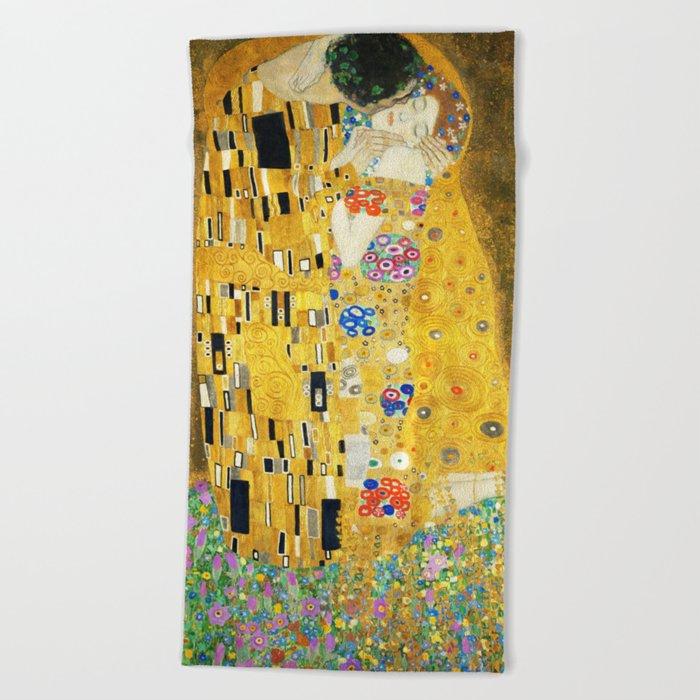 Gustav Klimt The Kiss Beach Towel