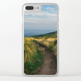 Mountain Landscape Clear iPhone Case