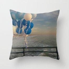 Santa Monica pier 4 Throw Pillow