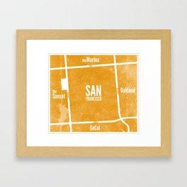 This is SF (Orange) Framed Art Print