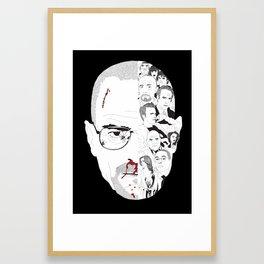 Breaking Bad: Walter White broken down Framed Art Print