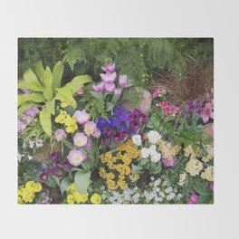 Floral Spectacular - Spring Flower Show Throw Blanket