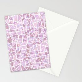 Pastel Triangles 3 Stationery Cards