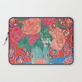 Roses in Enamel Flamingo Vase Laptop Sleeve