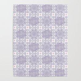 Moden patchwork tile pattern Poster