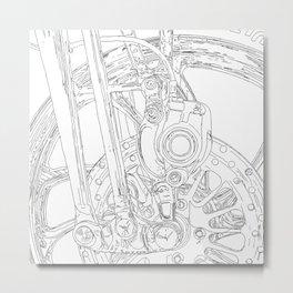 cycle detail, drawing 2 Metal Print