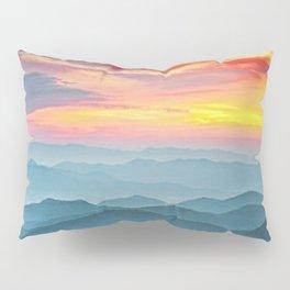 Mountain Range Sunset Pillow Sham