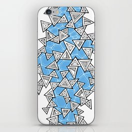 Triangles and Tessellation in Blue iPhone Skin