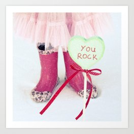 You Rock Art Print