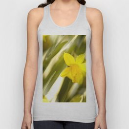 Spring atmosphere with yellow narcissus Unisex Tank Top