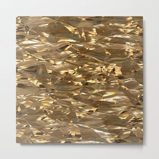 Golden Crinkle Metal Print