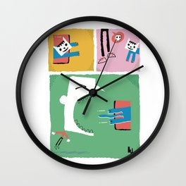 Loop cat comix Wall Clock