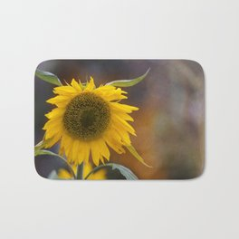 Sunflower in the field Bath Mat