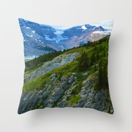 Views along the Wilcox Pass Hike in Jasper National Park, Canada Throw Pillow