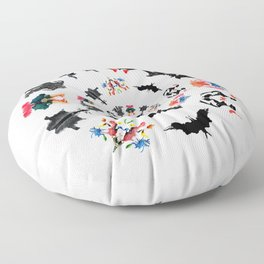 Rorschach test subjects' perceptions of inkblots psychology   thinking Exner score Floor Pillow