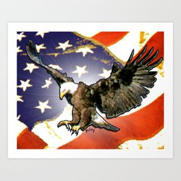 Eagle Flag Art Print
