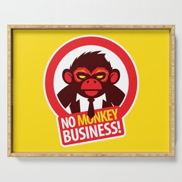 No MONKEY Business! Serving Tray