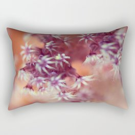 Pastel Coral Flowers Rectangular Pillow
