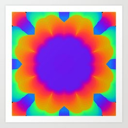 Radioactive Flower Art Print
