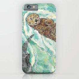 Two Otters iPhone Case