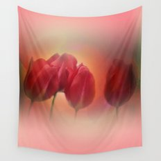 window curtain with flowerpower -4- Wall Tapestry