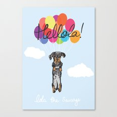 Lola The Sausage Canvas Print