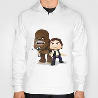 han solo Hoodies featuring Han Solo & Chewbacca by 7pk2 online