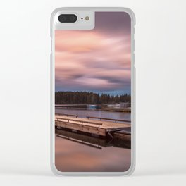 Comox Lake Vancouver Island Clear iPhone Case