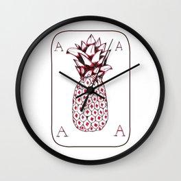 Ananas card Wall Clock