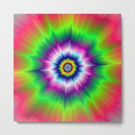 Explosive Tie-Dye Metal Print