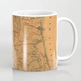 Vintage Map of Northern Florida (1864) Coffee Mug