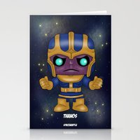 thanos Stationery Cards featuring Thanos Pop! by SpaceWaffle