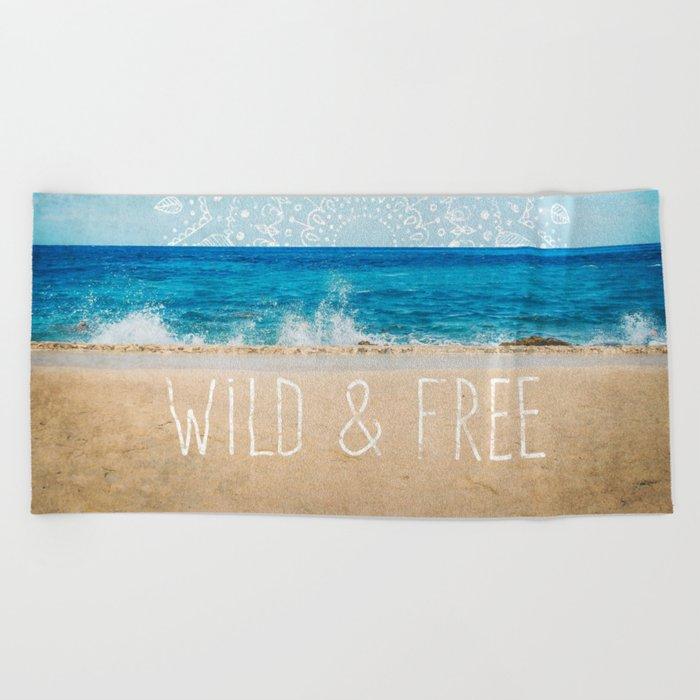 Wild & Free Beach Towel
