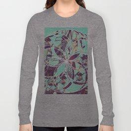 Los Angeles Ferris Wheel Abstract Mosaic Long Sleeve T-shirt