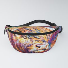 Highland Cow 6 Fanny Pack