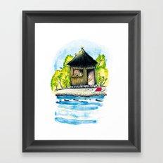 Maison de paille Framed Art Print
